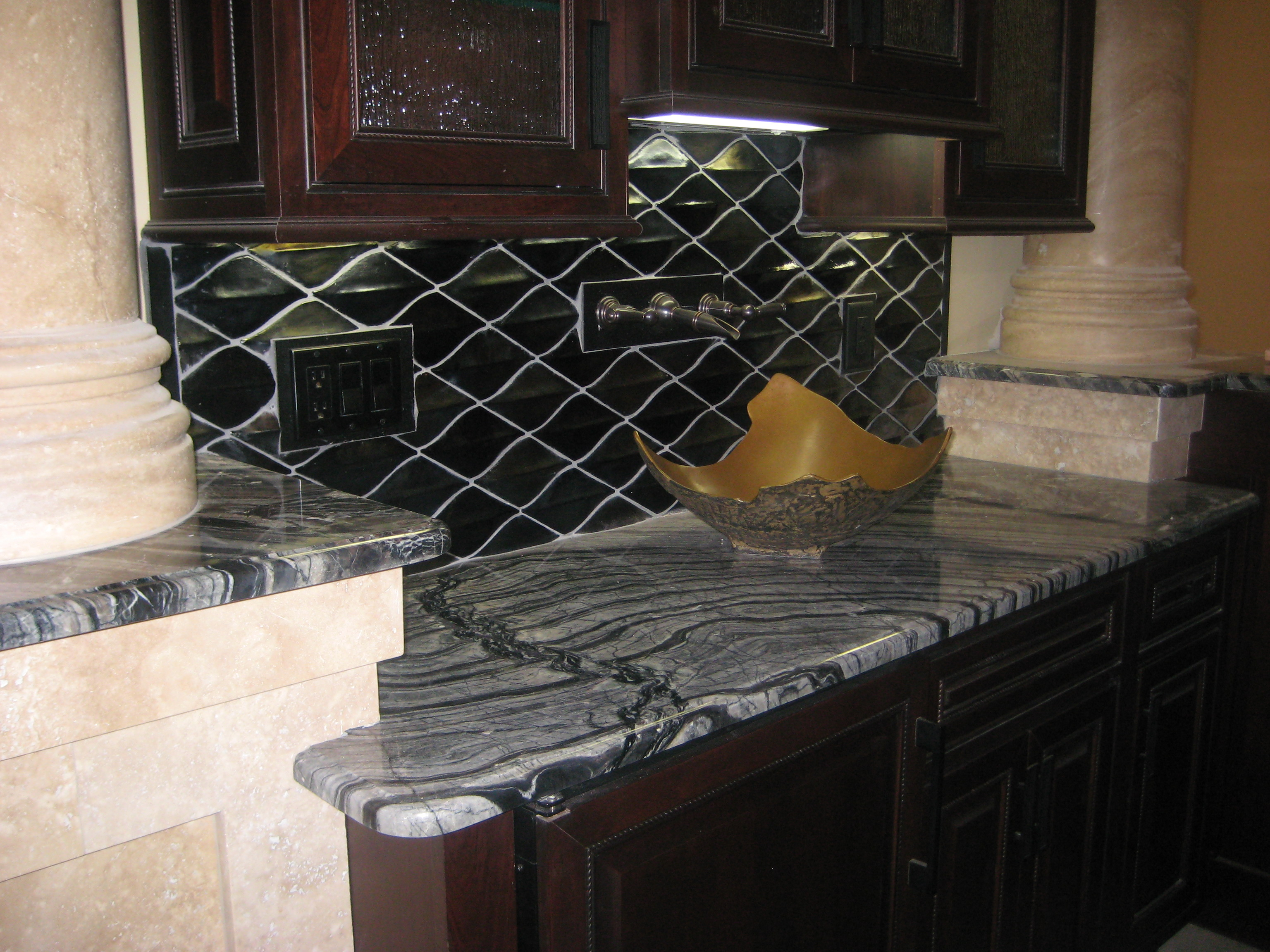 on of installed kingston store countertop waterfall fabrication in cost granite countertops milestone